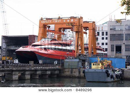 Ship In The Shipyard For Repair