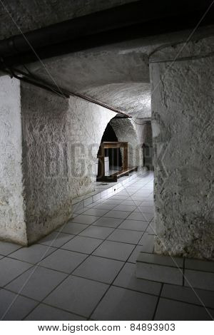 TRAVNIK, BOSNIA AND HERZEGOVINA - JUNE 11: The tomb of the Servant of God Peter Barbaric in the Church of St. Aloysius in in Travnik, Bosnia and Herzegovina on June 11, 2014.