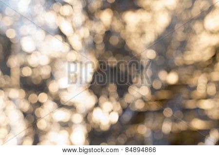 Abstract Blurry Lights With Bokeh For Backgrounds And Overlays
