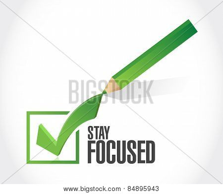 Stay Focused Check Mark Illustration