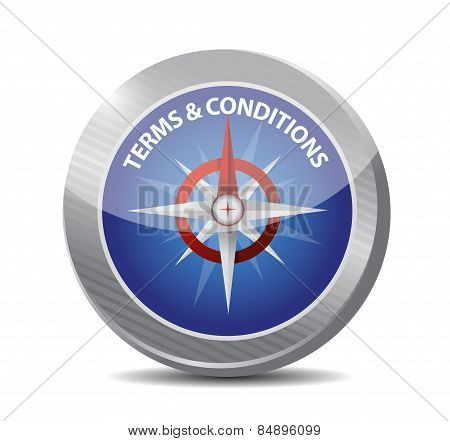 Terms And Conditions Compass Illustration