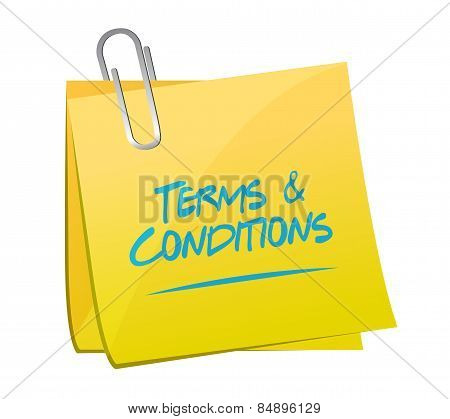 Terms And Conditions Memo Post Illustration Design
