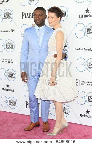 SANTA MONICA - FEB 21: David Oyelowo, Jessica Oyelowo at the 2015 Film Independent Spirit Awards on February 21, 2015 in Santa Monica, California