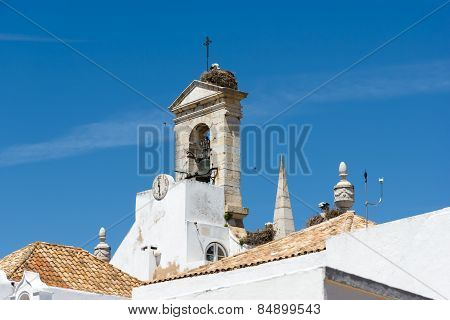 The Historic Church In Faro Portugal.