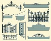 stock photo of wrought iron  - Vector set - JPG