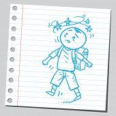 picture of dizzy  - Dizzy schoolkid - JPG