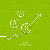 stock photo of growth  - The graph shows the growth and profit - JPG