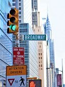 picture of broadway  - New York City street scene with broadway sign - JPG