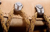 picture of eyeleteer  - a detail of walking boots with bootlace - JPG