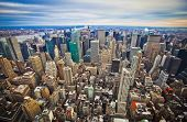 foto of freedom tower  - Midtown and lower Manhattan in New York City from high perspective - JPG