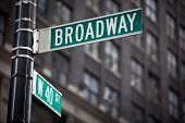 pic of broadway  - Broadway street sign in New York City - JPG