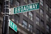 stock photo of broadway  - Broadway street sign in New York City - JPG