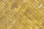 stock photo of dialect  - Woven rattan with natural patterns vintage wall - JPG