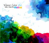 stock photo of letterhead  - Watercolor Background and yes - JPG