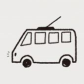 picture of tram  - Doodle Tram - JPG