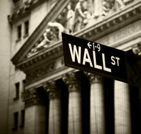 picture of nyse  - Wall Street sign in lower Manhattan New York - JPG