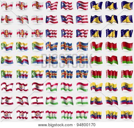 Guernsey, Puerto Rico, Tokelau, Comoros, Aland, Belarus, French Polynesia, Tajikistan, Ecuador. Big