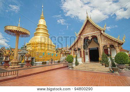 Wat Phra That Hariphunchai In Lampun, Thailand