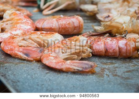 Cooked Grilled Shrimps