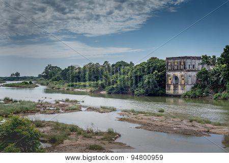 Temple Ruin Along The Vennar River.
