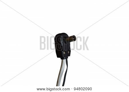 The Plug Of An Antenna Cable