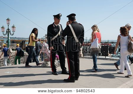 Two Carabinieri, From One Of Italy's Two Police Forces