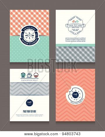 Vintage Frames And Backgrounds Design Template For Flyer Brochure Business Card Menu