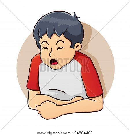 Boy Having A Stomach Problem