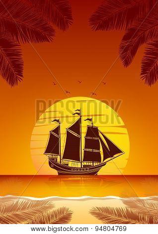 Sailing Ship Background