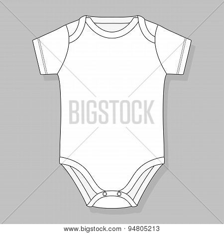 baby bodysuit template