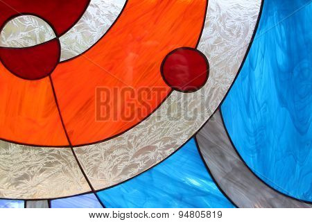 Modern abstract stained glass window
