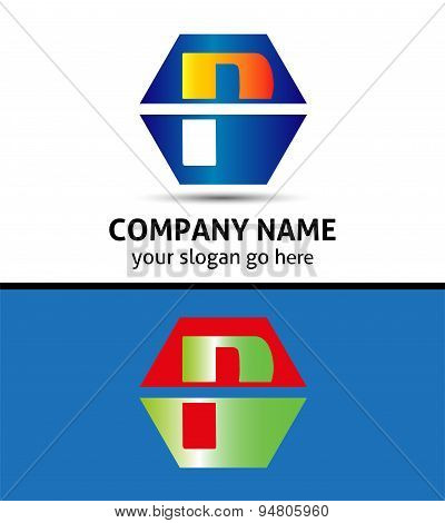 Letter P logo icon template design