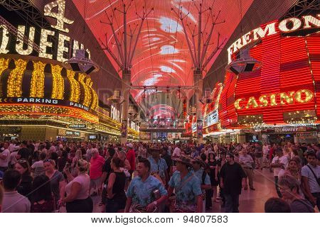 Fremont Street Experience Excitement In Las Vegas