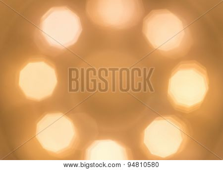 Abstract Bokeh From Lighting Decor For Background