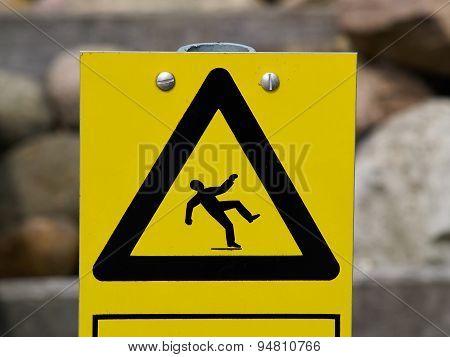 Warning Sign Slippery Floor Surface