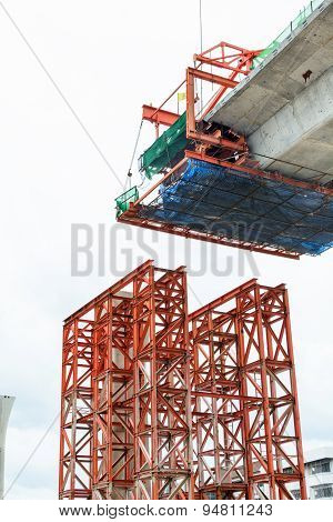 Construction Of A Mass Transit Skytrain Line