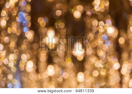 Abstract Circular Bokeh Of Gold Colour For Background