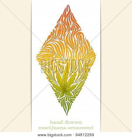 Abstract Ornament of Marijuana