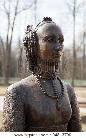The Bronze Sculpture In The Tsarskoye Selo