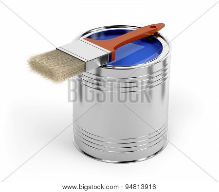 Paintbrush And Paint Can