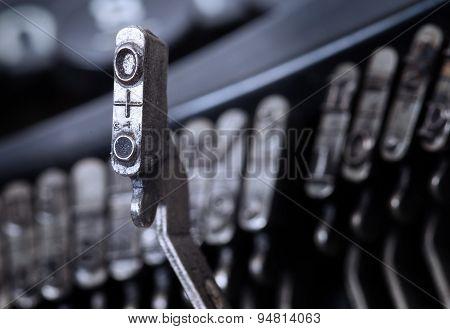 O Hammer - Old Manual Typewriter - Cold Blue Filter