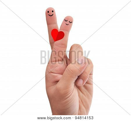 Love Fingers possing