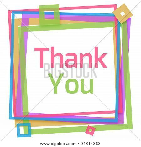 Thank You Colorful Frame