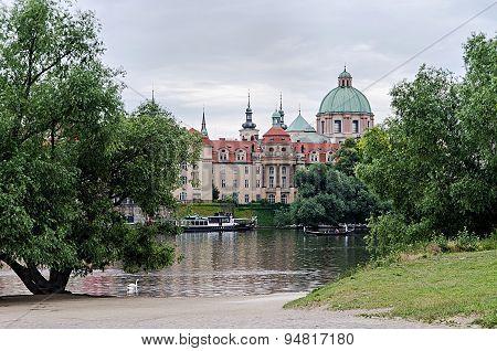 Prague View Of The River Vltava