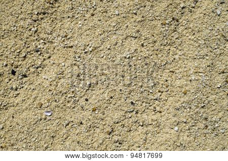 Dry Sand Beach With Pebbles