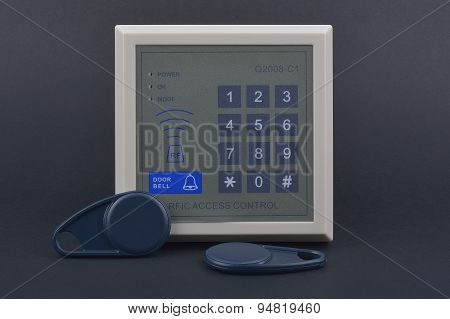 Electronic Key Access System To Lock And Unlock Doors. Control Access