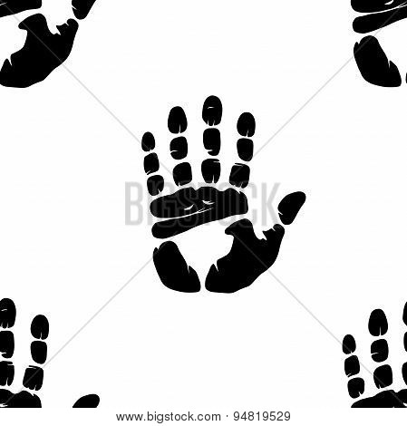 Hand Imprint Seamless