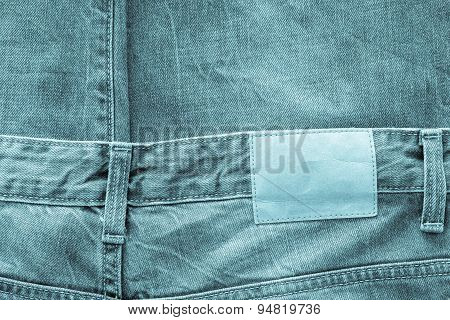 Texture Fabric Of Jeans Clothes Indigo Color