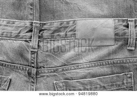 Texture Fabric Of Jeans Clothes Monochrome Color