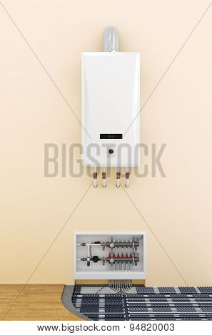 Underfloor Heating Control System In Home